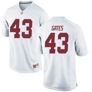 Men Alabama Crimson Tide A.J. Gates #43 College White Game Football Jersey 824002-432