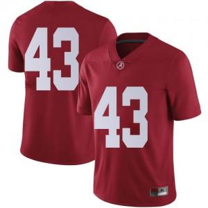 Men Alabama Crimson Tide A.J. Gates #43 College Crimson Limited Football Jersey 682397-410