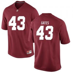 Men Alabama Crimson Tide A.J. Gates #43 College Crimson Replica Football Jersey 883351-775