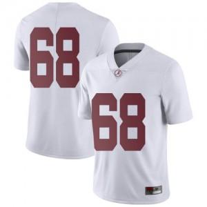 Men Alabama Crimson Tide Alajujuan Sparks Jr. #68 College White Limited Football Jersey 288921-209