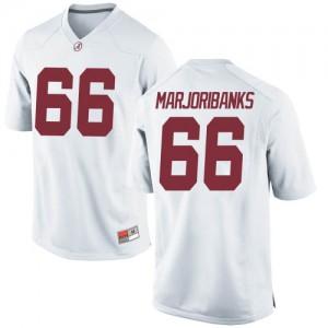 Men Alabama Crimson Tide Alec Marjoribanks #66 College White Game Football Jersey 220512-476