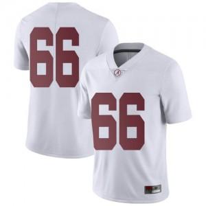 Men Alabama Crimson Tide Alec Marjoribanks #66 College White Limited Football Jersey 660160-474