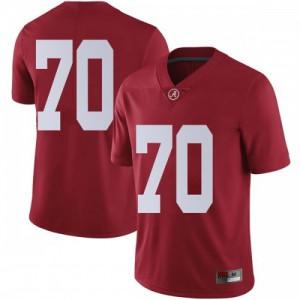Men Alabama Crimson Tide Alex Leatherwood #70 College Crimson Limited Football Jersey 217392-762