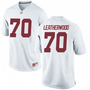 Men Alabama Crimson Tide Alex Leatherwood #70 College White Replica Football Jersey 354984-685