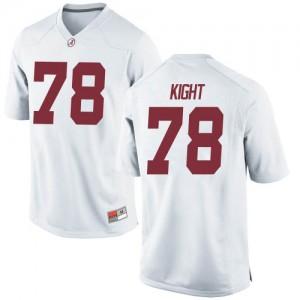 Men Alabama Crimson Tide Amari Kight #78 College White Replica Football Jersey 234712-483