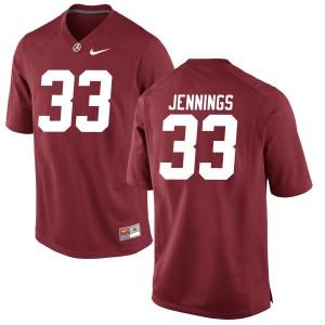 Men Alabama Crimson Tide Anfernee Jennings #33 College Crimson Replica Football Jersey 620682-801