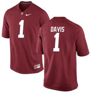 Men Alabama Crimson Tide Ben Davis #1 College Crimson Limited Football Jersey 198637-765