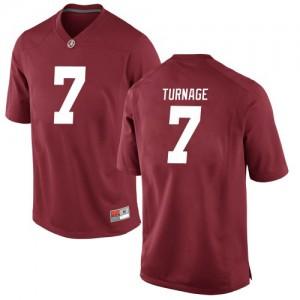 Men Alabama Crimson Tide Brandon Turnage #7 College Crimson Game Football Jersey 275885-162