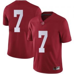 Men Alabama Crimson Tide Brandon Turnage #7 College Crimson Limited Football Jersey 633043-386