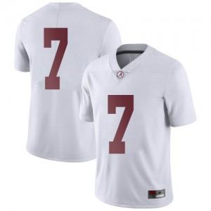 Men Alabama Crimson Tide Brandon Turnage #7 College White Limited Football Jersey 182233-846