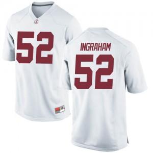 Men Alabama Crimson Tide Braylen Ingraham #52 College White Game Football Jersey 326387-940