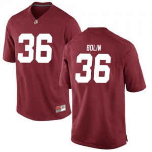 Men Alabama Crimson Tide Bret Bolin #36 College Crimson Replica Football Jersey 387343-893
