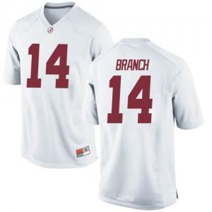 Men Alabama Crimson Tide Brian Branch #14 College White Replica Football Jersey 201286-362