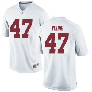 Men Alabama Crimson Tide Byron Young #9 College White Replica Football Jersey 376112-526