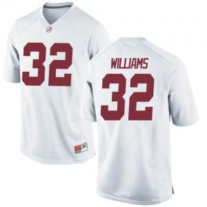 Men Alabama Crimson Tide C.J. Williams #32 College White Replica Football Jersey 980864-242