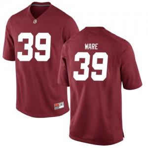 Men Alabama Crimson Tide Carson Ware #39 College Crimson Replica Football Jersey 742010-136