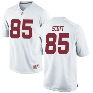 Men Alabama Crimson Tide Charlie Scott #85 College White Game Football Jersey 448390-848