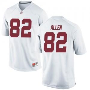 Men Alabama Crimson Tide Chase Allen #82 College White Game Football Jersey 982315-684