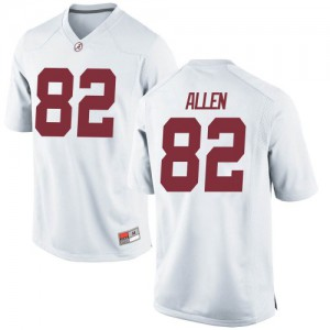 Men Alabama Crimson Tide Chase Allen #82 College White Replica Football Jersey 452855-143