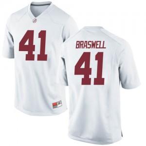 Men Alabama Crimson Tide Chris Braswell #41 College White Game Football Jersey 273024-665