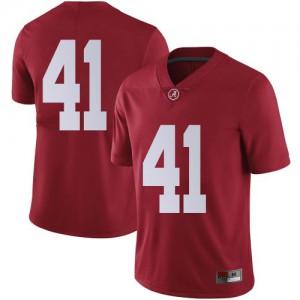 Men Alabama Crimson Tide Chris Braswell #41 College Crimson Limited Football Jersey 858200-989