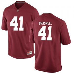 Men Alabama Crimson Tide Chris Braswell #41 College Crimson Replica Football Jersey 337892-453