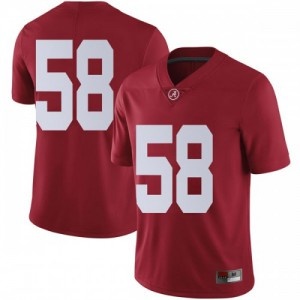 Men Alabama Crimson Tide Christian Barmore #58 College Crimson Limited Football Jersey 584295-957