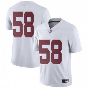 Men Alabama Crimson Tide Christian Barmore #58 College White Limited Football Jersey 402836-279