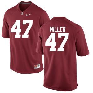 Men Alabama Crimson Tide Christian Miller #47 College Crimson Authentic Football Jersey 267484-781