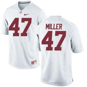 Men Alabama Crimson Tide Christian Miller #47 College White Game Football Jersey 193396-606
