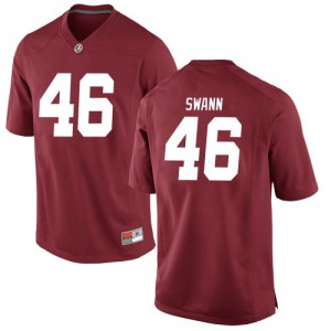 Men Alabama Crimson Tide Christian Swann #46 College Crimson Game Football Jersey 772221-197