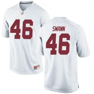 Men Alabama Crimson Tide Christian Swann #46 College White Game Football Jersey 962429-705