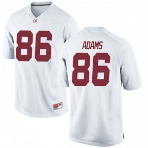 Men Alabama Crimson Tide Connor Adams #86 College White Replica Football Jersey 507115-938