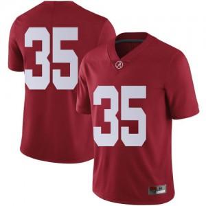 Men Alabama Crimson Tide Cooper Bishop #35 College Crimson Limited Football Jersey 293754-372