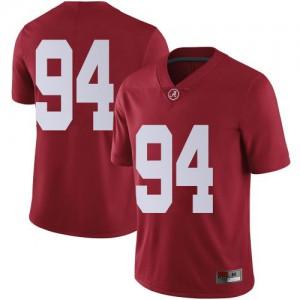 Men Alabama Crimson Tide DJ Dale #94 College Crimson Limited Football Jersey 472094-950