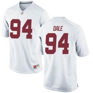 Men Alabama Crimson Tide DJ Dale #94 College White Replica Football Jersey 185498-706