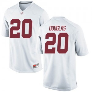 Men Alabama Crimson Tide DJ Douglas #20 College White Replica Football Jersey 472140-896
