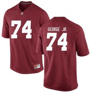 Men Alabama Crimson Tide Damieon George Jr. #74 College Crimson Game Football Jersey 850151-528
