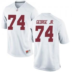 Men Alabama Crimson Tide Damieon George Jr. #74 College White Replica Football Jersey 349669-713