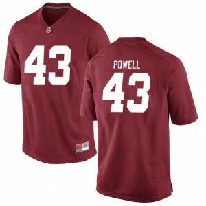 Men Alabama Crimson Tide Daniel Powell #43 College Crimson Game Football Jersey 524772-959