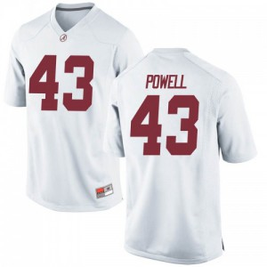 Men Alabama Crimson Tide Daniel Powell #43 College White Game Football Jersey 281865-220