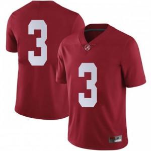 Men Alabama Crimson Tide Daniel Wright #3 College Crimson Limited Football Jersey 703845-747