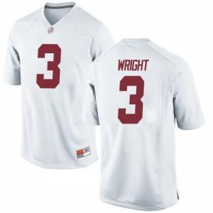 Men Alabama Crimson Tide Daniel Wright #3 College White Replica Football Jersey 287786-500