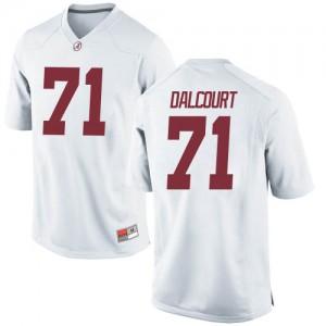 Men Alabama Crimson Tide Darrian Dalcourt #71 College White Game Football Jersey 917410-731