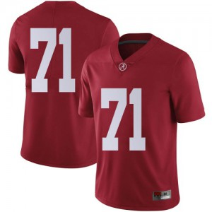 Men Alabama Crimson Tide Darrian Dalcourt #71 College Crimson Limited Football Jersey 864965-314