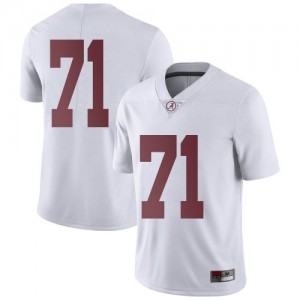 Men Alabama Crimson Tide Darrian Dalcourt #71 College White Limited Football Jersey 723362-608