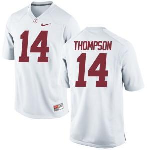 Men Alabama Crimson Tide Deionte Thompson #14 College White Replica Football Jersey 413074-700