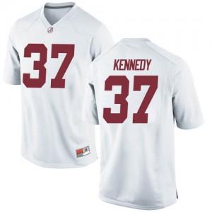 Men Alabama Crimson Tide Demouy Kennedy #37 College White Replica Football Jersey 962407-138