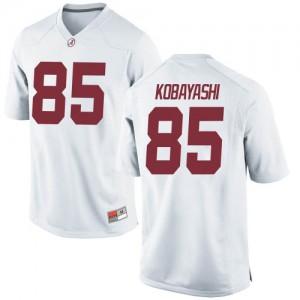 Men Alabama Crimson Tide Drew Kobayashi #85 College White Replica Football Jersey 542583-158