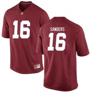 Men Alabama Crimson Tide Drew Sanders #16 College Crimson Game Football Jersey 125313-898